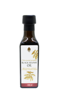 Unrefined black sesame oil, 100 ml