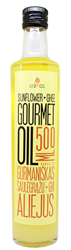 Gourmet sunflower oil with ghee butter, 500 ml