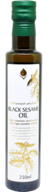 Unrefined black sesame oil, 250 ml