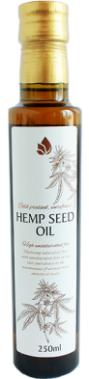 Unrefined hemp seed oil, 250 ml