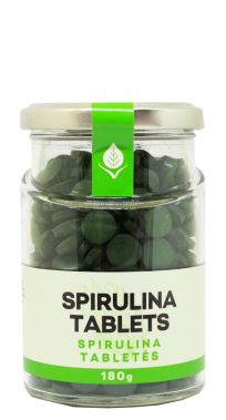 Spirulina tabletės, 180 g