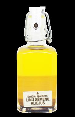 Linų sėmėnų šviežiai spaust., nefiltr. aliejus, 250 ml