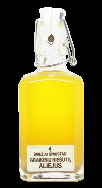 Graikinių riešutų šviežiai spaustas nefiltruotas aliejus, 250 ml