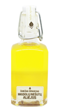 Cold pressed unfiltered almond oil, 250 ml